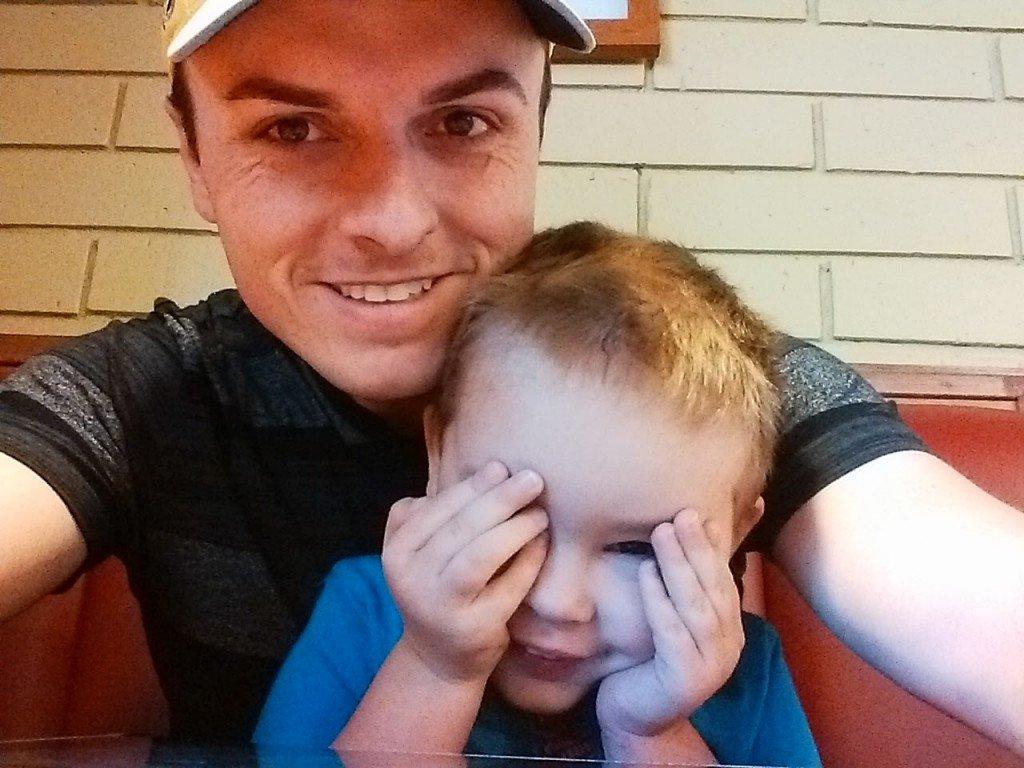 Me, and my son, Nolan