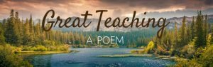 What Makes A Great Sunday School Teacher? (A Poem)